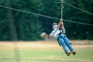 Camp Orkila's zipline is open to the public! on May 19 and June  Reservations required!