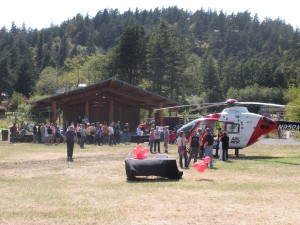 Airlift Northwest visited the Village Green on Thursday afternoon for tours—not for an emergency.