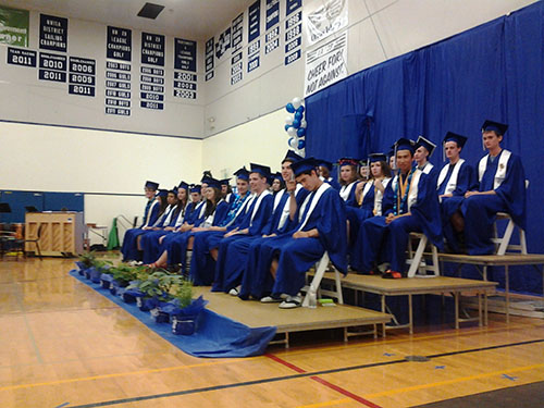 d451647c088d2 On Saturday, June 11, at 2 p.m., Orcas Island High School class of 2016  held their graduation ceremony to a gym full ...