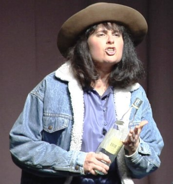 "Sharon Abreu as a Colorado cowgirl in ""The Climate Monologues"". See her repeat performance next Thursday evening, Sept. 15 at Random Howse."